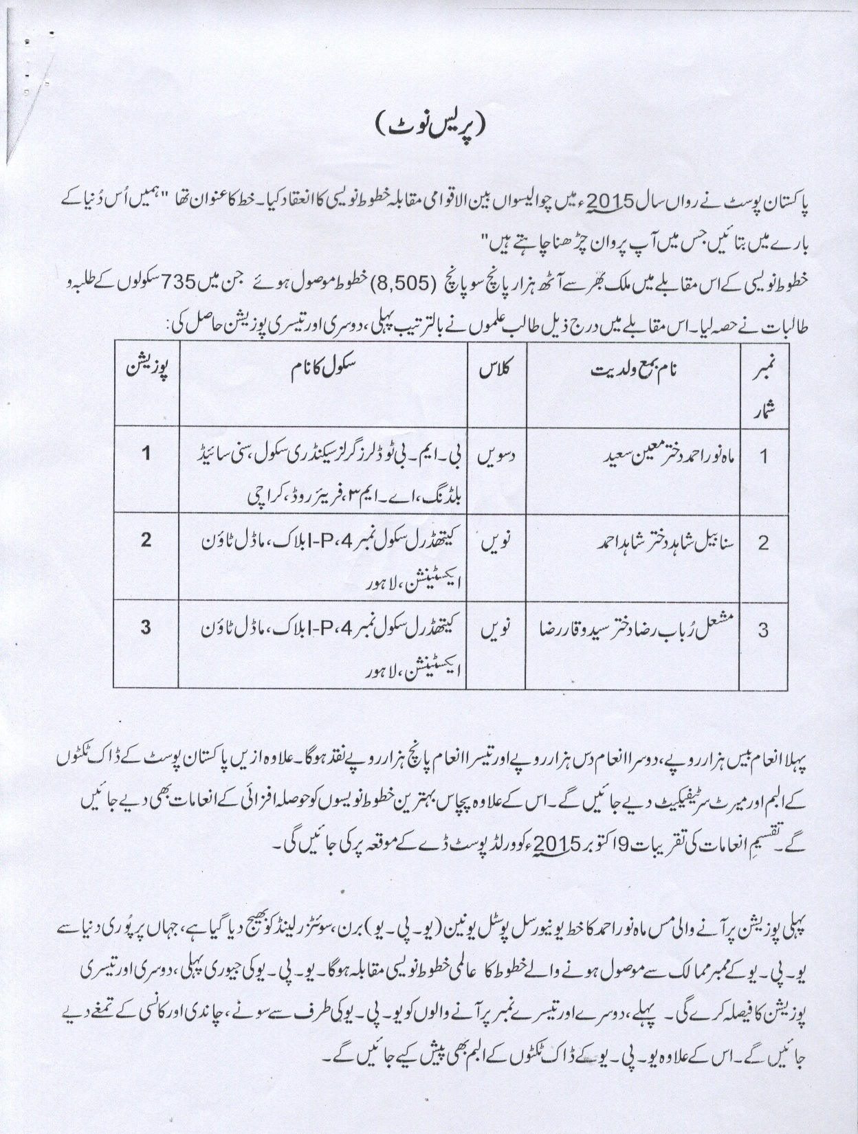 pakistan post essay competition A deadly triangle: afghanistan, pakistan,  minister of pakistan, a post he has held on two previous occasions  of mutual mistrust and competition if pakistan.